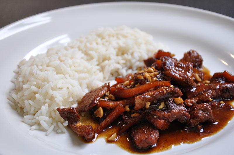 Saut de porc au miel la cocotte minute cuisine express fa on docteur sangsue docteur sangsue - Saute de porc cocotte minute ...