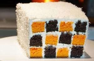 gâteau damier halloween