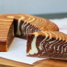 zebra cake ou cake zébré