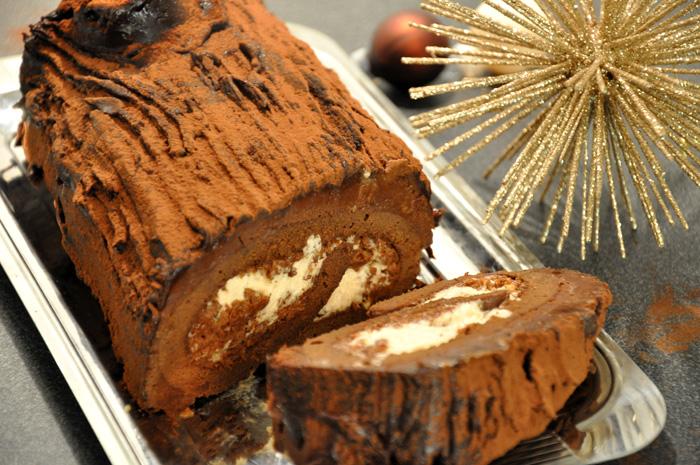 B che de no l marrons chocolat pralin - Herve cuisine buche de noel ...